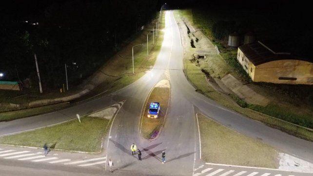 Se iluminaron 13 cuadras de ruta 9 y el acceso del camino hacia la autopista.