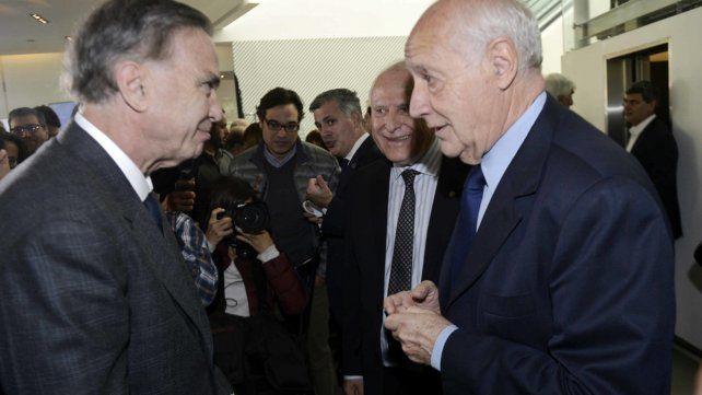 Actores clave. Lavagna ratificó frente a Lifschitz y Pichetto su voluntad de ser candidato presidencial.