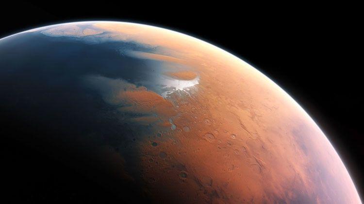 En la actualidad el planeta rojo no posee agua en estado líquido.