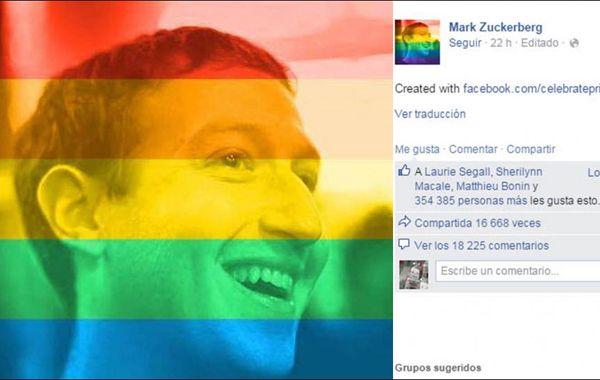 Los usuarios de la red pueden transformar su foto de perfil en una colorida muestra de apoyo hacia el matrimonio igualitario.