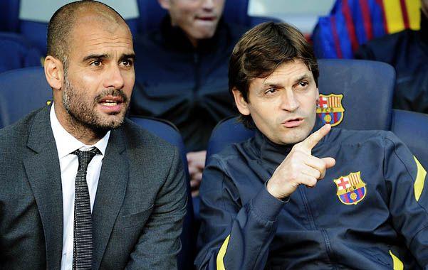 Dupla exitosa. Guardiola y Vilanova idearon juntos el Barcelona multicampeón que se cansó de ganar títulos.