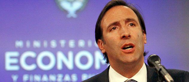 Presentación. El ministro de Economía