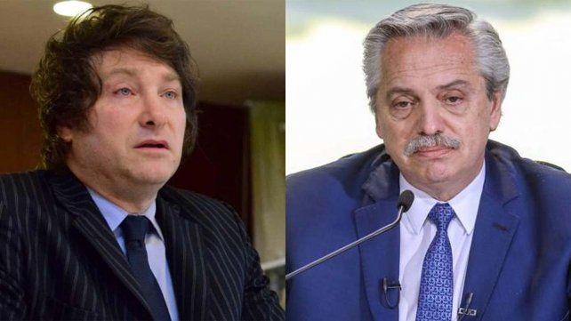 Javier Milei desafíó a Alberto Fernández:  ¿Querés ver quién termina con el boleto picado?
