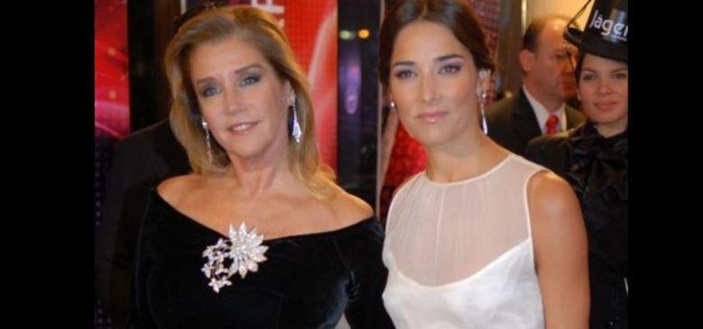 Marcela Tinayre y su hija en una reciente aparición en público.