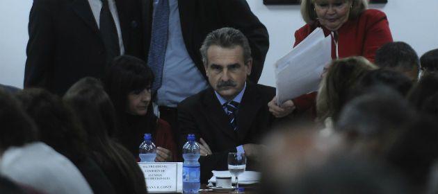 Agustín Rossi durante el debate de ayer