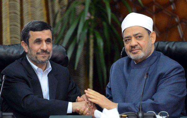 Un hito. Mahmud Ahmadineyad y Ahmed al Tayyib