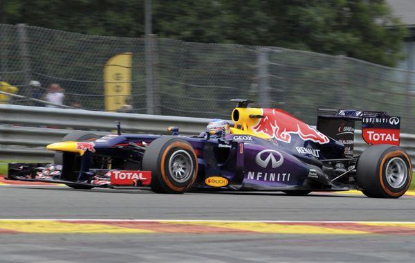 El Red Bull del alemán Sebastian Vettel