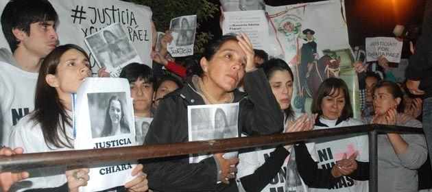 La comunidad de Rufino sigue reclamando justicia por el crimen de la adolescente Chiara Páez.