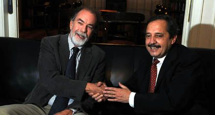 Alfonsín rompió con Binner y eligió a González Fraga para vice