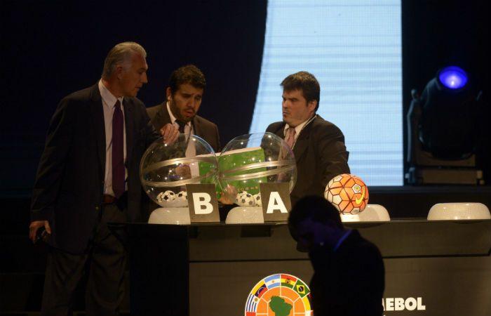 El sorteo se efectuó en la sede de la Conmebol en Asunción. (Foto: Héctor Río)