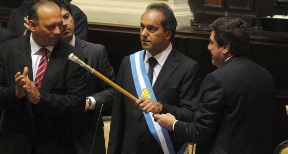 Scioli prometió enfrentar la inseguridad y combatir el crimen organizado