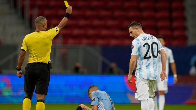Giovani Lo Celso fue titular contra Uruguay.
