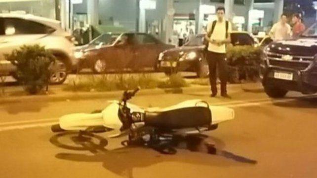 La moto con la que el joven acusado atropelló a la víctima.