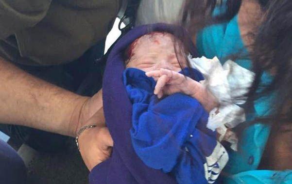 Faustina. La beba fue abandonada en una estación de servicios porteña.