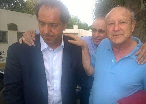 en 2015. Scioli y Benetti compartieron un día de campaña en Rosario.