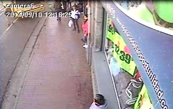 Imagen de video. La escena se observa en el ángulo superior izquierdo.