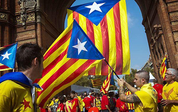Barcelona en las calles. Los catalanes manifestaron reiteradas veces en reclamo de la soberanía regional.