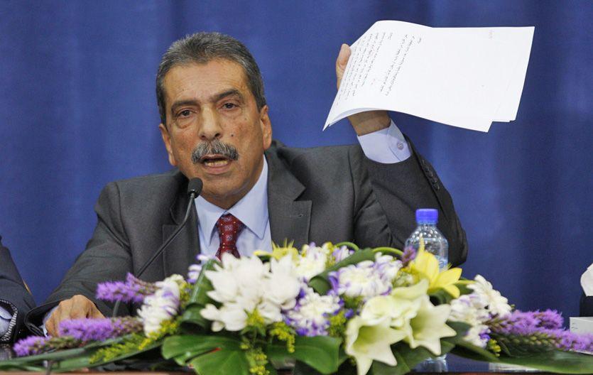 Conferencia en Ramalá. El palestino Tawfiq Tiraui apuntó como responsable al ex premier israelí