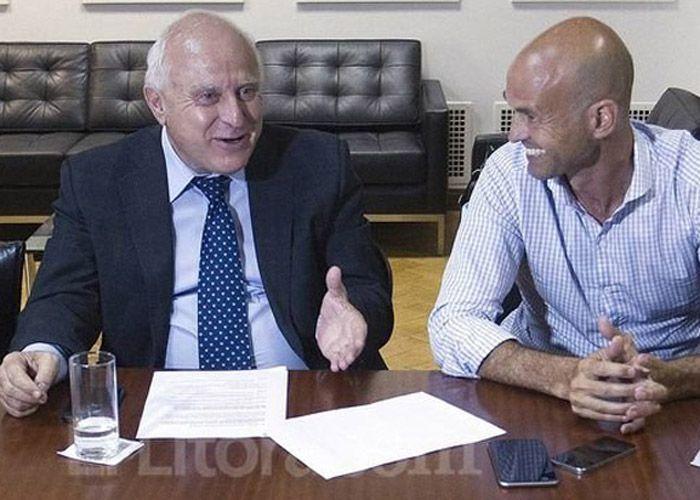 El gobernador y el ministro de Transporte de la Nación