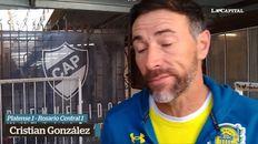 Molesto por el resultado, el DT canalla dialogó con La Capital luego del empate con Platense.