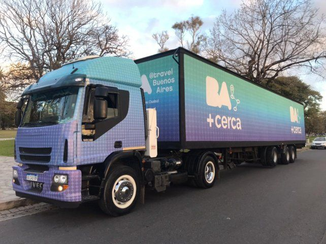 El trailer móvil BA más Cerca.