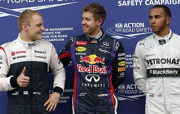 ¿Y este? Vettel mantiene un diálogo con un emocionado Valtteri Bottas
