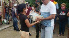 El candidato asesinado, Waldo Santefeliz, durante un acto de campaña. Dos de sus hijos fueron asesinados anteriormente.