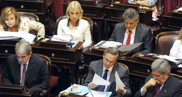 Los senadores kirchneristas dieron un rotundo respaldo a Boudou