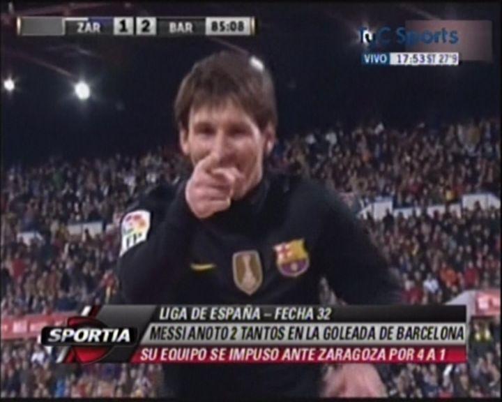 Messi bate un nuevo récord al anotar 60 goles en una temporada