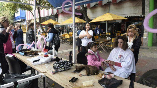 Las tijeras a full en la Plaza Montenegro.