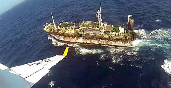 El buque chino fue hundido mientras operaba en un territorio de pesca de la Argentina.