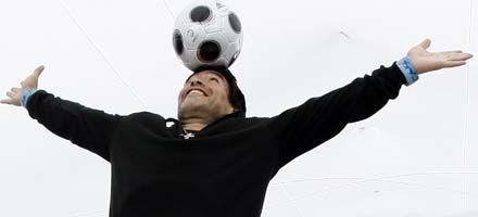 Maradona, el entrenador de la selección