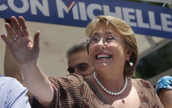 Amplia favorita. Bachelet obtendría entre el 63 y 66% de los votos en el ballottage del domingo en Chile.