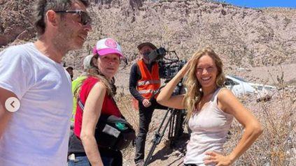 Luisana Lopilato en la bella Tilcara, donde filma una película para Netflix.