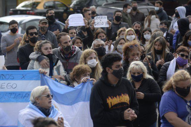 Unas 300 personas se manifestaron el domingo frente al CJP en reclamo de la libertad de Diego C.