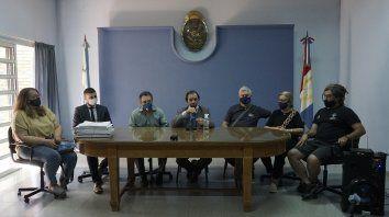 La conferencia se realizó en el recinto de sesiones del Concejo Municipal de San Jorge con la presencia de familiares y compañeros de María Florencia Gómez.