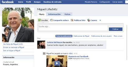 Lifschitz recuperó su espacio en Facebook y podrá seguir sumando amigos