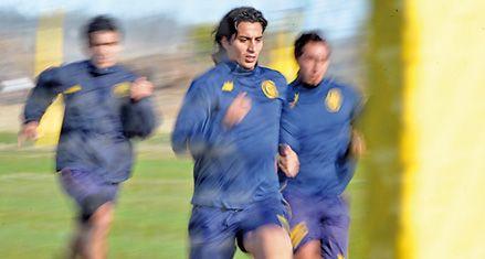 Central: Guizasola estuvo de titular en la práctica de ayer