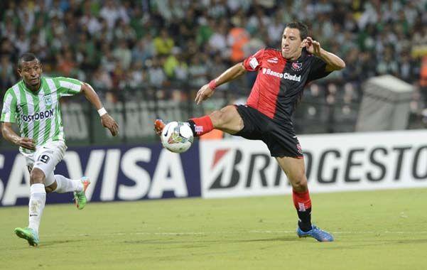 Siempre cumple. Maxi Rodríguez fue el jugador de Newell's que más exigió a Atlético Nacional.