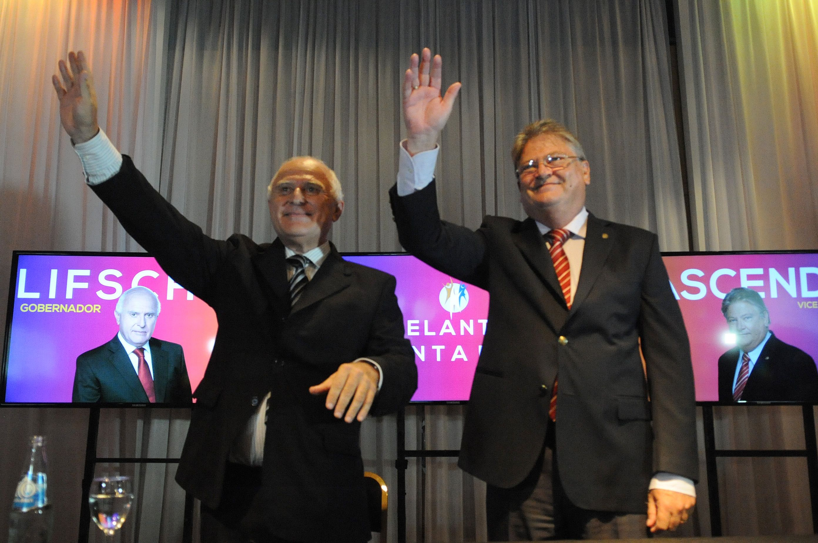Miguel Lifschitz y Carlos Fascendini