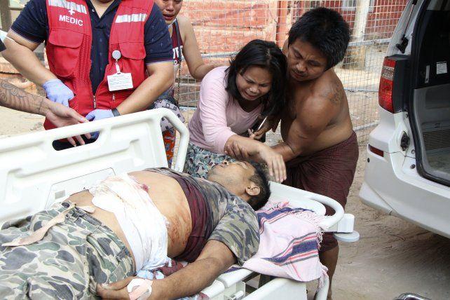 Una de las tantas víctimas de la generalizada represión en Myanmar.
