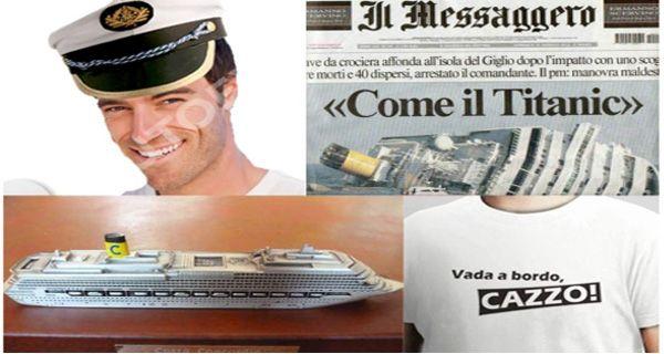 El disfraz del capitán Schettino es el más elegido en Italia