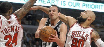 NBA: poco aporte de Ginóbili en el triunfo de los Spurs sobre Chicago