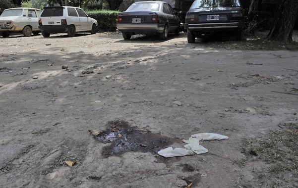 La cochera. Una mancha donde arrojaron el cadáver de Alejandro Domínguez