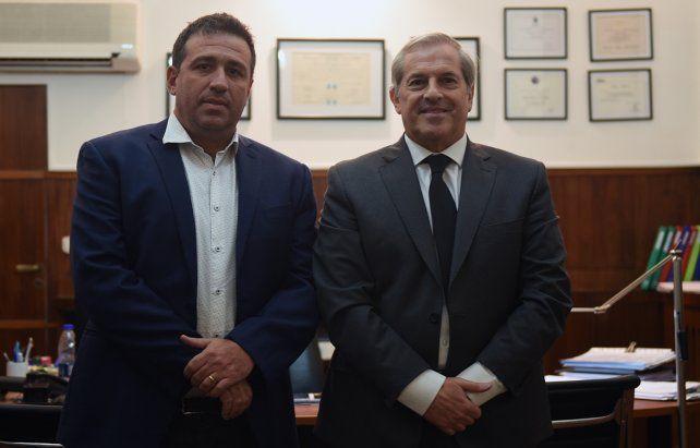 El presidente la Daia Rosario visitó el Diario La Capital