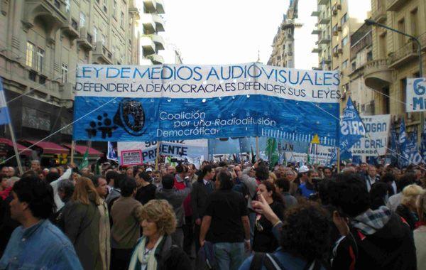 La ley recibió el apoyó de miles de argentinos con varias marchas en distintos puntos del país.