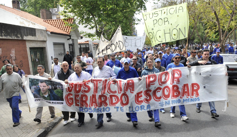 Hoy se llevó adelante una nueva marcha para pedir Justicia por la muerte de Gerardo Pichón Escobar.