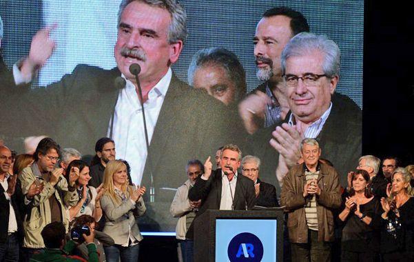 En carrera. Rossi fue el único orador del acto en Unione e Benevolenza.