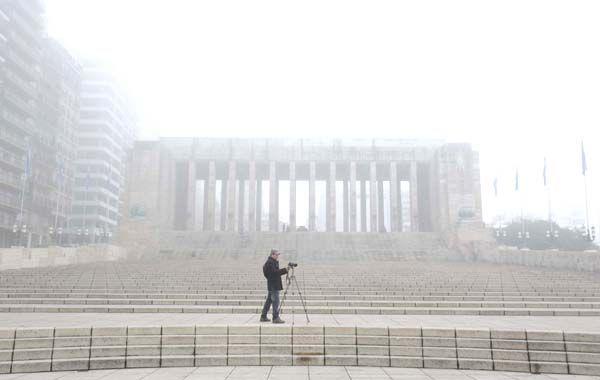 La niebla se mantuvo con persistencia durante toda la jornada. (foto: Silvina Salinas)