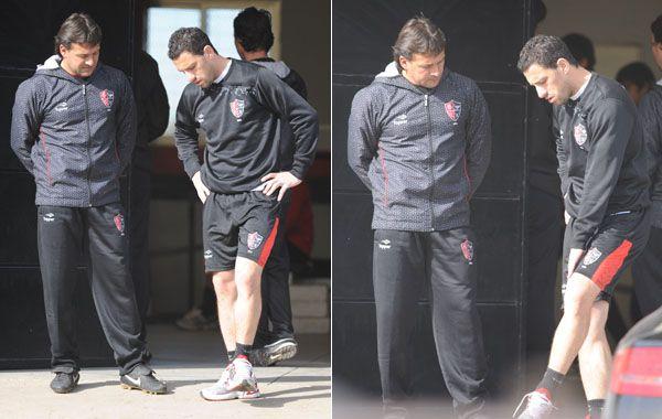 El jugador se retiró el sábado lesionado con dolor en la rodilla que tiene operada.